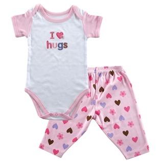Купить Комплект: боди и штанишки Hudson Baby «Сердечки»