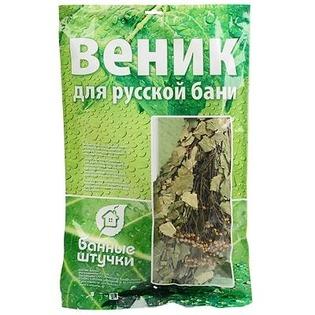 Купить Веник березовый с полынью Банные штучки в упаковке