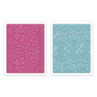 Купить Набор форм для эмбоссирования Sizzix Textured Impressions Богемные кружева