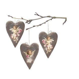 Купить Набор вельветовой ткани Tilda Винтажные сердца ангелов