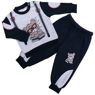 Купить Комплект для мальчиков: толстовка и брюки Pelops ЯВ109250. Цвет: синий