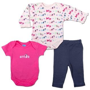 Купить Комплект для девочки: боди с длинными и короткими рукавами и леггинсы Bon Bebe FAR-3176G3