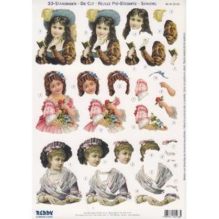 Купить Аппликация бумажная вырубная Reddy Creative Cards «Детские портреты»