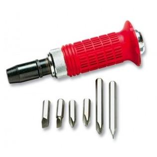 Купить Отвертка ударно-поворотная с набором бит MATRIX с обрезиненной ручкой в боксе