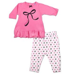 Купить Комплект для девочки: платье и леггинсы Bon Bebe FAR-001G4