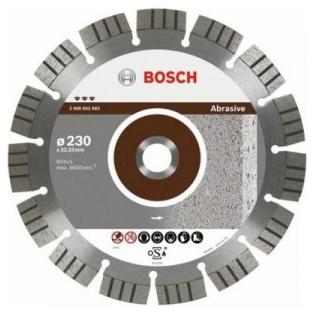 Купить Диск отрезной алмазный для угловых шлифмашин Bosch Best for Abrasive 2608602679