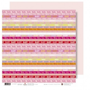 Купить Бумага для скрапбукинга двусторонняя Rayher «Розовые полоски»