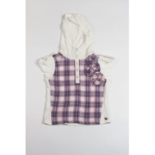 Купить Рубашка детская Fore N Birdie Crinkle plaid hoodie with knit inset