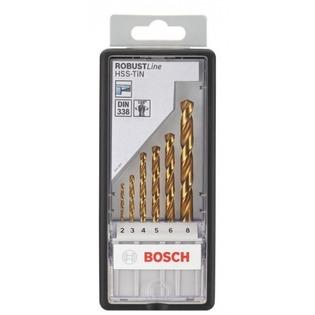 Купить Набор сверл по металлу Bosch HSS-TiN DIN 338 2-8 мм