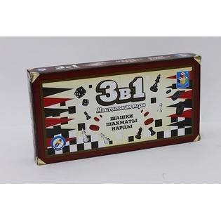 Купить Игра настольная 3 в 1 1 Toy Т52450
