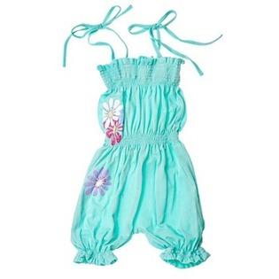 Купить Полукомбинезон для девочек Katie Baby Perfume Flowers. Цвет: бирюзовый