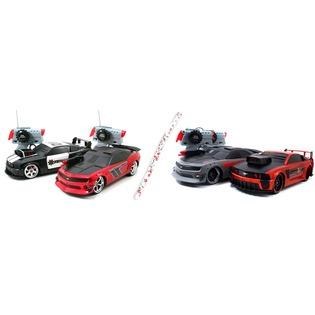 Купить Машины боевые 1:16 радиоуправляемые Jada Toys Mustang & Camaro «Лазерный бой». В ассортименте