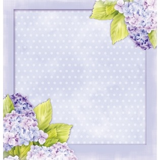 Купить Бумага для скрапбукинга двусторонняя Rayher «Лиловые цветки»