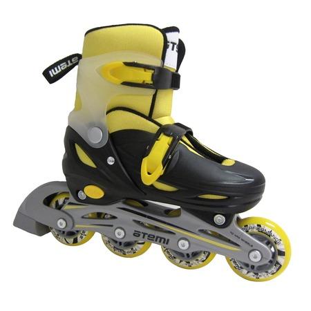 Купить Детские роликовые коньки ATEMI AJIS-12.05 Neon hard boot yellow/black