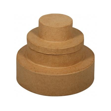 Купить Коробка из папье-маше Rayher «Свадебный торт»