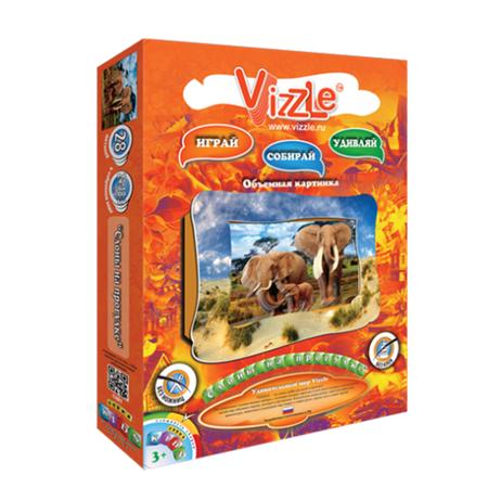 Купить Картинка объемная Vizzle Слоны на прогулке