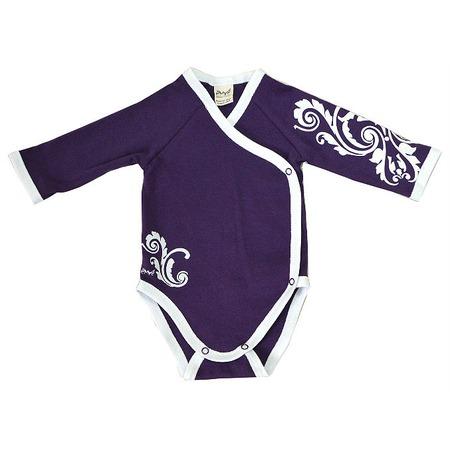 Купить Боди для новорожденных с длинным рукавом Ёмаё 24-215. Цвет: лиловый