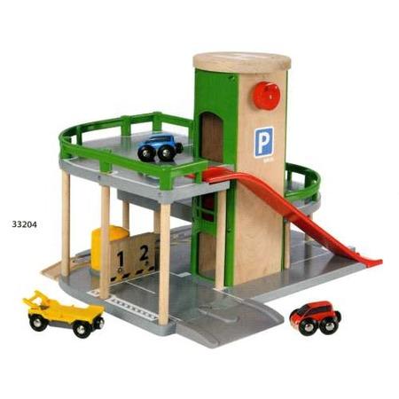 Купить Парковка к железнодорожному полотну с лифтом и машинками Brio 33204