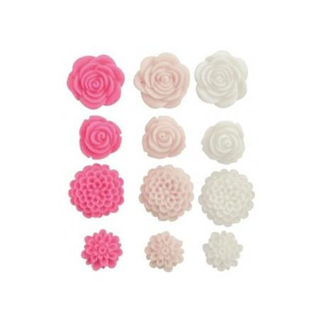 Купить Набор пластиковый цветочков Kaisercraft Fuchsia