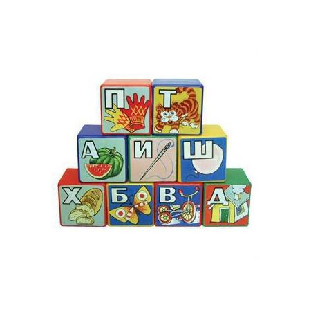 Купить Кубики Строим вместе «Алфавит»