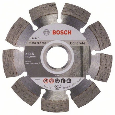 Купить Диск отрезной алмазный для угловых шлифмашин Bosch Expert for Concrete