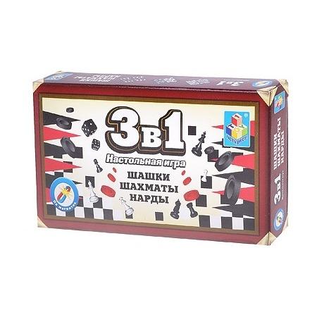 Купить Игра настольная «Шашки, шахматы, нарды» 1toy Т52447