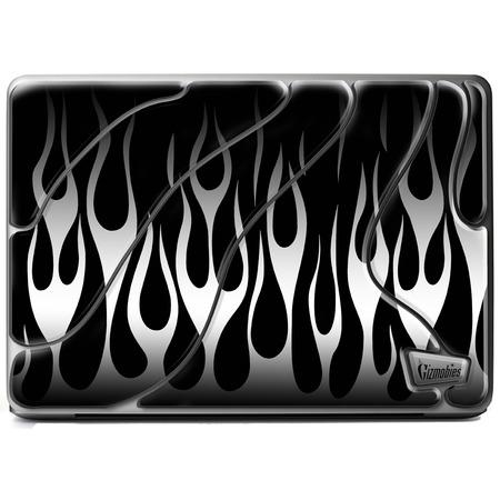 Купить Наклейка 3D для ноутбука Gizmobies Metallic Flames