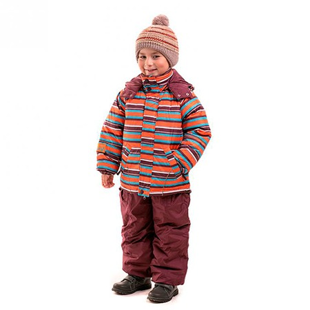 Купить Комплект для мальчика: куртка и полукомбинезон Sp-Show ЯВ115048. Цвет: оранжевый, коричневый