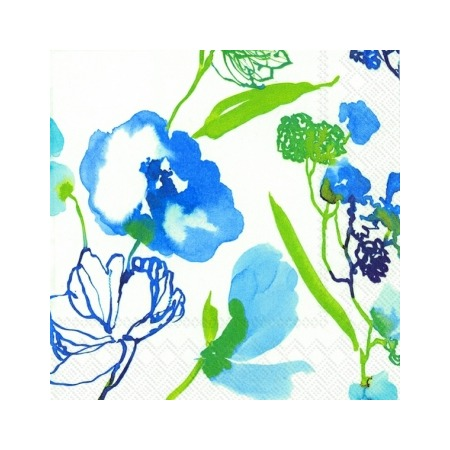 Купить Салфетки бумажные для декупажа IHR «Акварельные цветы»