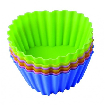 Купить Набор форм для выпечки силиконовый Regent «Тарталетки-сердца»