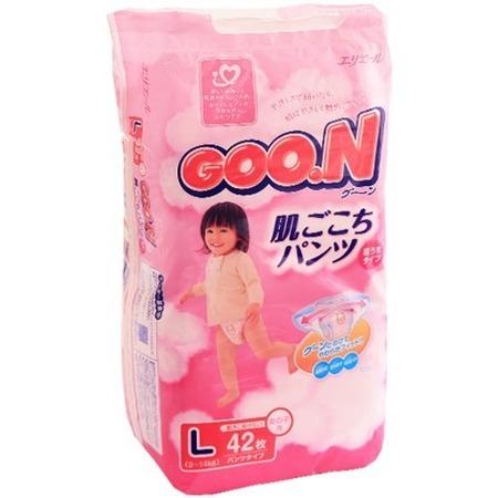 Купить Трусики GOO.N L для девочек 9-14 кг. 46 шт