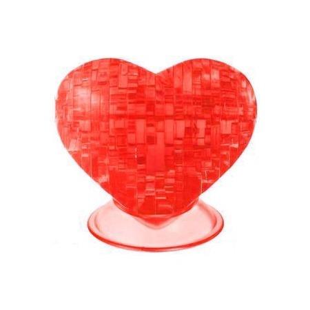 Купить Кристальный пазл 3D Crystal Puzzle «Сердце красное»