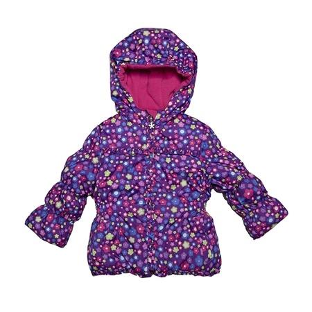 Купить Куртка утеплённая с капюшоном Amy Byer Цветочек-purple