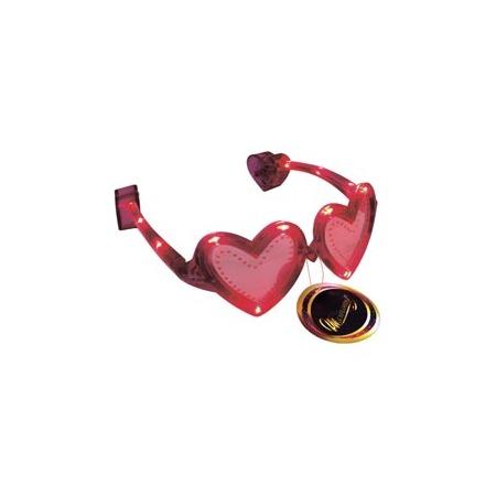 Купить Очки светящиеся Шампания «Сердечки»