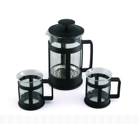 Купить Набор: чайник заварочный с поршнем и 2 кружки для кофе Gipfel GLACIER-SEVILLA 7440