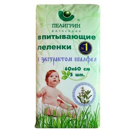 Купить Пеленки впитывающие ПЕЛИГРИН «с экстрактом шалфея»