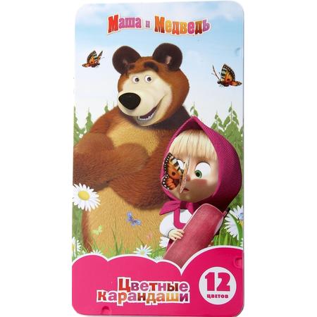 Купить Набор цветных карандашей Маша и Медведь 20421