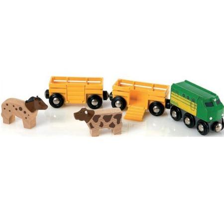 Купить Грузовые вагоны с животными BRIO 33404