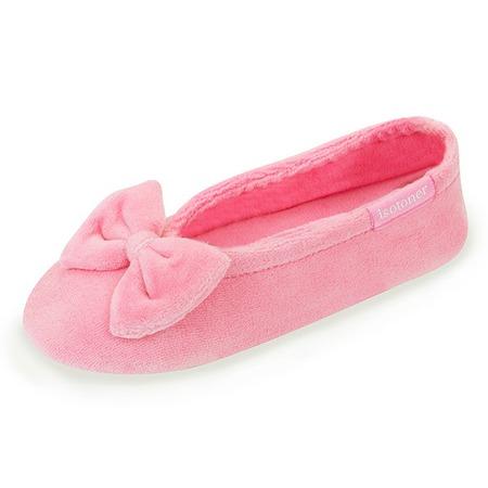Купить Балеринки детские домашние Isotoner 99083. Цвет: темно-розовый