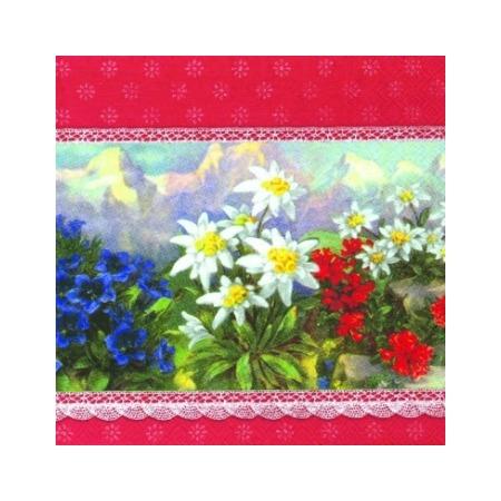 Купить Салфетки бумажные для декупажа IHR «Альпийские цветы»