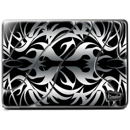 Купить Наклейка 3D для ноутбука Gizmobies Metallic Tribal Ornate