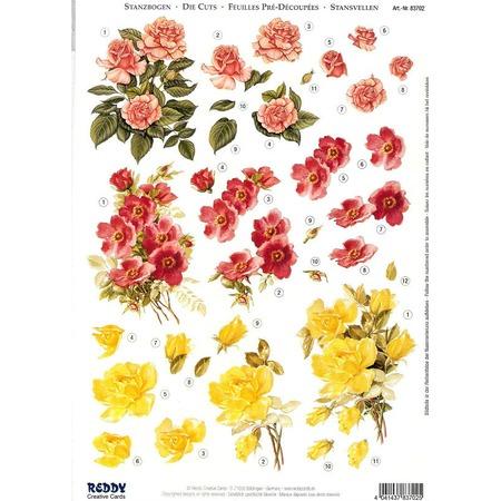 Купить Аппликация вырубная для объемных рисунков Reddy Creative Cards «Розы»
