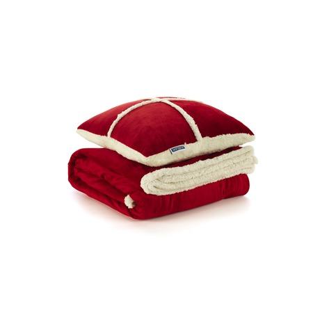 Фото Набор Dormeo Warm Hug: одеяло и подушка. Цвет: красный