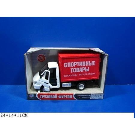 Купить Машина инерционная Joy Toy «Газель фургон Спорттовары» Р40516