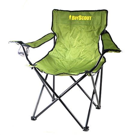 Купить Кресло кемпинговое раскладное с подлокотниками BOYSCOUT в чехле