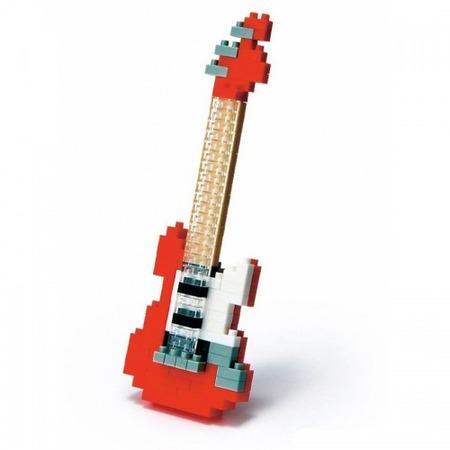Купить Мини-конструктор Nanoblock «Красная электрогитара»