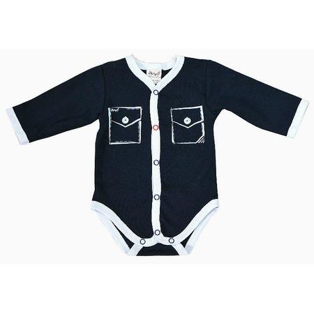 Купить Боди для новорожденных с карманами Ёмаё 24-03. Цвет: синий