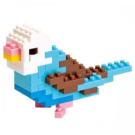 Купить Мини-конструктор Nanoblock «Волнистый попугайчик»