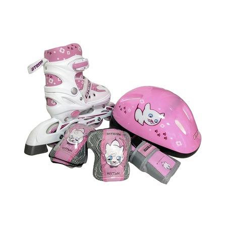 Купить Роликовые коньки с комплектом защиты и шлемом ATEMI AJIS-12.08 KITTEN