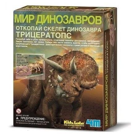 Купить Набор юного археолога 4M «Скелет Трицератопса»
